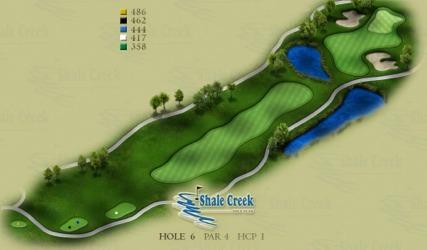 Course Layout Shale Creek Golf Club